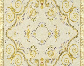 Floral Mosaic Rug - Maia Square