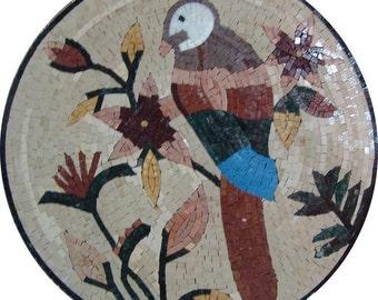 Mosaic Wall Art - Cobalt-Winged Parakeet
