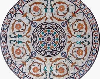 Circular Flower Mosaic - Felicity