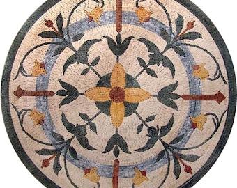Round Flower Mosaic - Marcia
