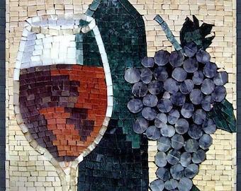 Mosaic Kitchen Backsplash - Vino