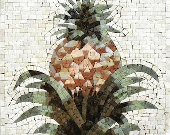 Mosaic Kitchen Backsplash- Pineapple