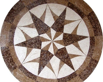 Starburst Geometric Mosaic - Sirius