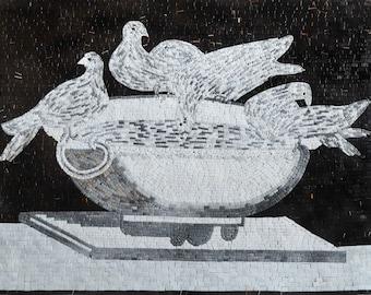 Mosaic Wall Art- Bird Bath