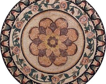 Round Flower Mosaic - Kaya