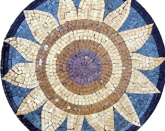 Sun Flower Mosaic Medallion