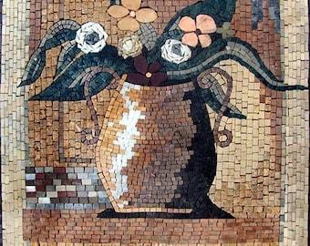 Illustrative Daisies Mosaic Pot