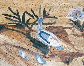 Mosaic Wall Art - Swallow Family