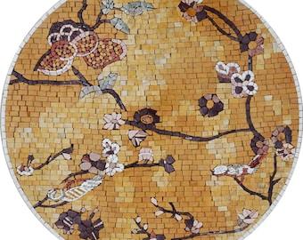 Japanese Flower Mosaic Panel - Julie