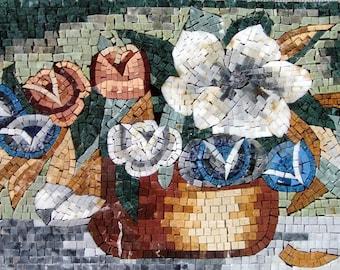 Gypsophilia Flower Mosaic Arrangement