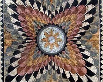 Multi-Colored Geometric Mosaic - Mia