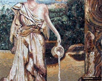 Helene Of Troy Marble Mosaic Figure