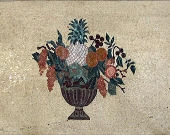 Mosaic Kitchen Backsplash- Flower Pattern