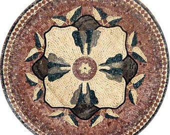 Round Flower Mosaic - Pansy