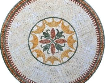 Round Flower Mosaic - Fabiola