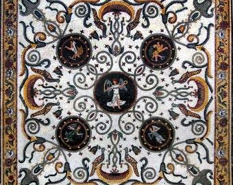 Angelos - Greek Mosaic Art Square