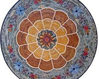 Flower Mosaic Rondure- Marguerite