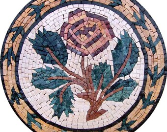 Tulip Flower Mosaic Medallion