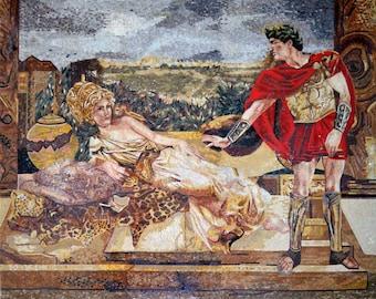 Helene of Troy Marble Mosaic Figurative