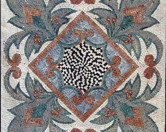 Geometric Flower Mosaic - Remi