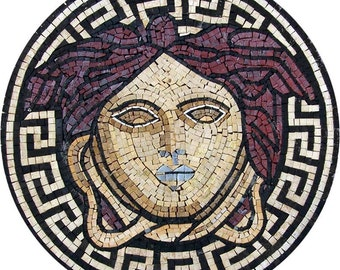 Medusa Mosaic Illustrative Art