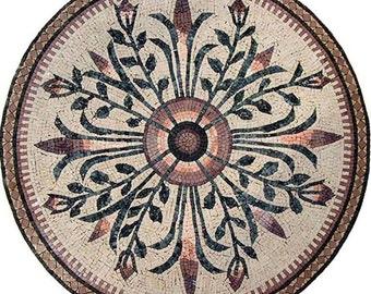 Round Flower Mosaic - Ada