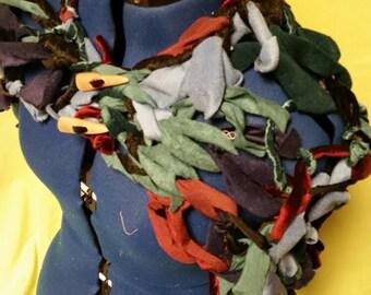 Arm Knit Scrap Fabric Shawl