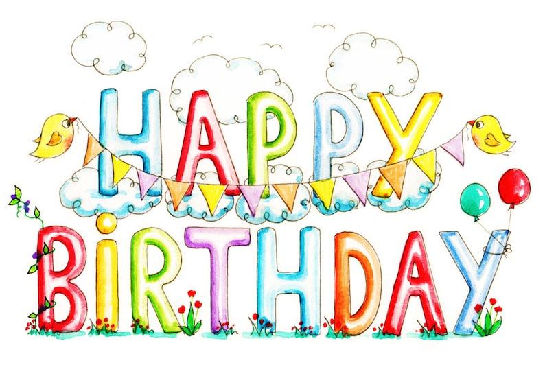 Printable Card Birthday PDF Downloadable