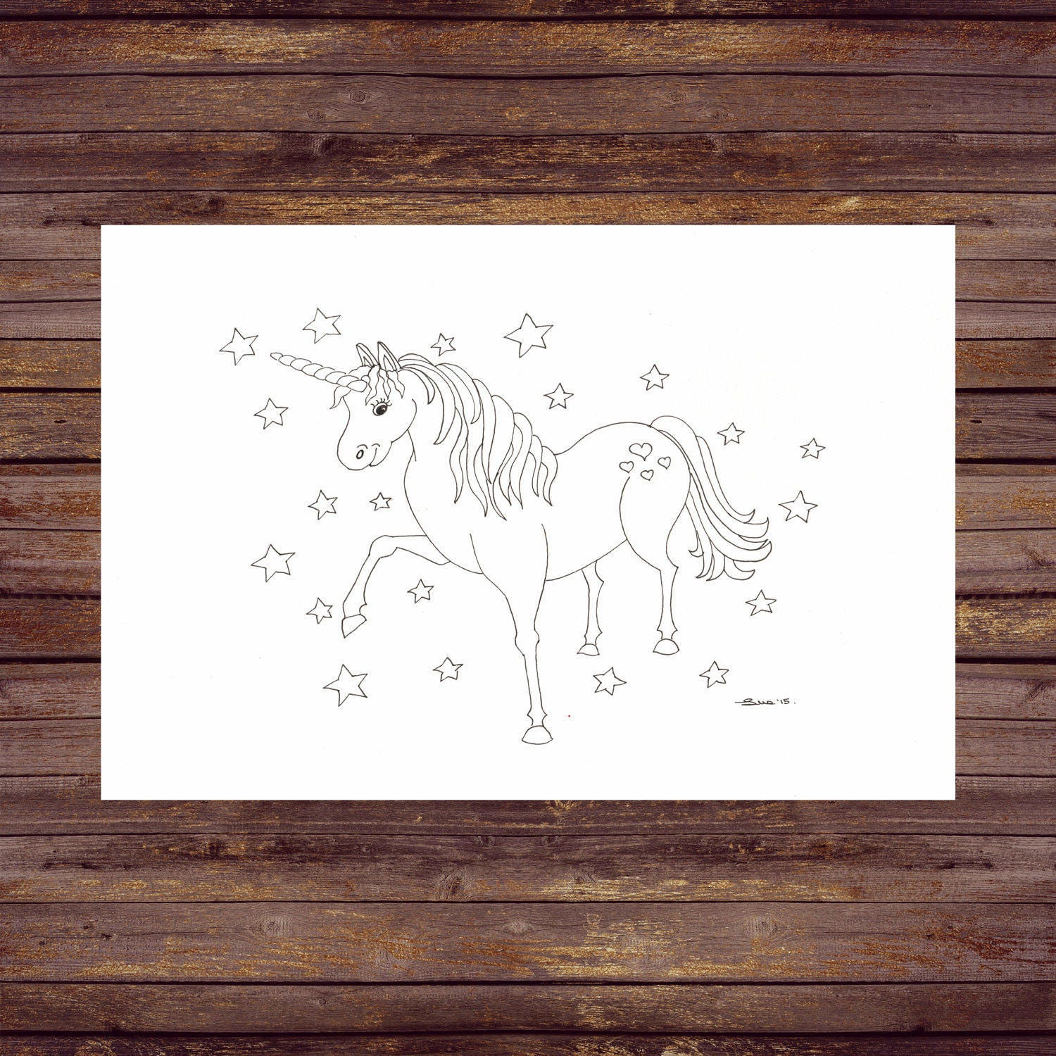 Unicorn PDF Printable Coloring Pages Colouring ...