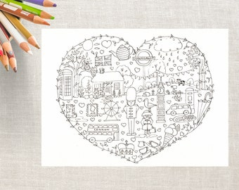 British Printable Coloring Pages, Download, London Colouring