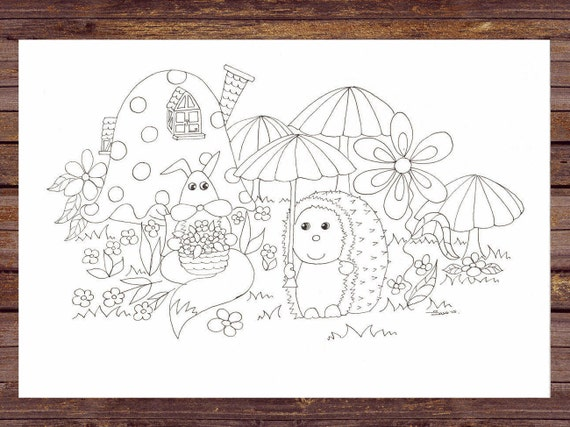 Fox Pdf Printable Coloring Pages Colouring Page Children And Etsy