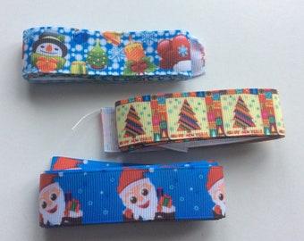 Christmas ribbon tapes, 3 patterns  short lengths AP1   Freepost  UK.