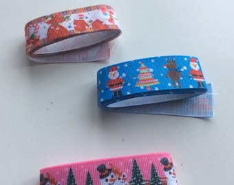 Christmas ribbon tapes, 3 patterns  short lengths AP2   Freepost  U.K.