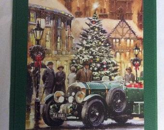 "Christmas card, hand made, Seasons Greetings   , blank inside 7""x5"", Freepost U.K."
