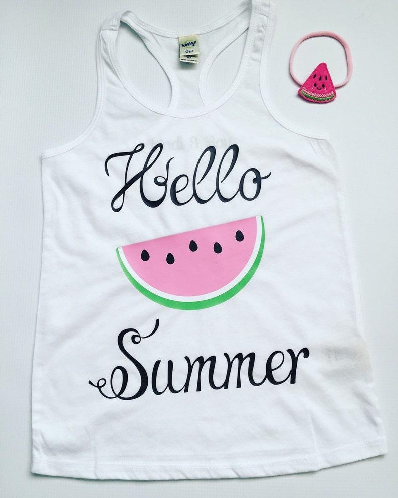 a79c77c070f20 Hello Summer Watermelon Tank Kids tank Summer