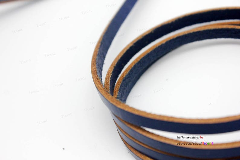 Natural Edge 5mmx2mm Coated Leather Strip-1 YARD GF5M152 5mm Royal Blue Flat Leather Cord