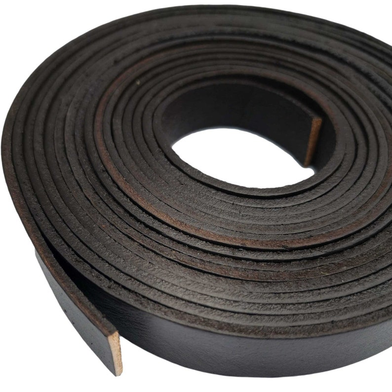 15mm Wide Coated Real Leather Band 2mm Thick 1 yard 15mmX2mm Wide Dark Brown Genuine Leather Strip GF15M-100