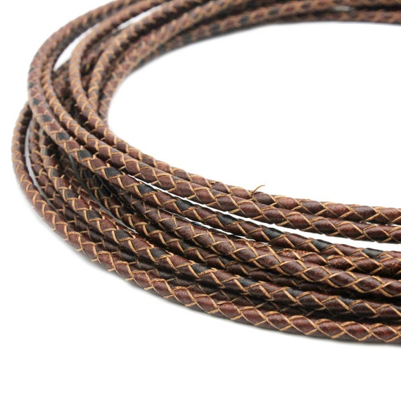 3mm Dark Brown Leather Bolo Cord to Fit 3mm Cord End BP3M36