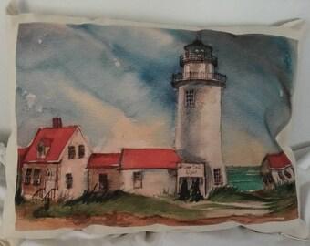 Cape Lighthouse Pillow