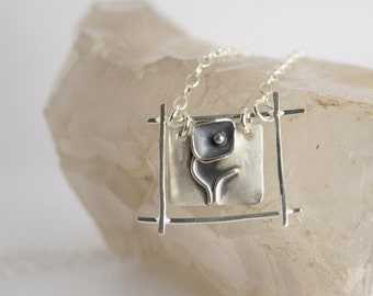 Sterling Silver Necklace - Funky