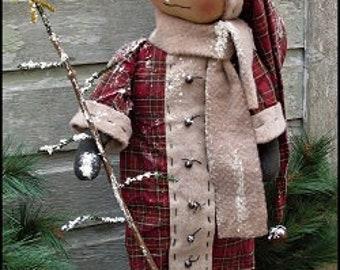 Primitive Standing Snowman Reed EPATTERN
