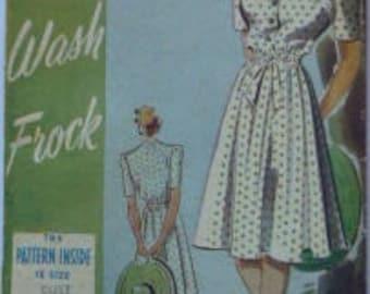 "Original Vintage Sewing pattern. Weldons no 88 dress pattern. Bust 34"""