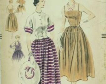Vintage Sewing pattern. Vogue 7952.uncut.50s original dress and Jacket