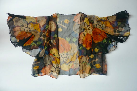 Vintage/Antique  Chiffon Silk top. 1920s-30s. very