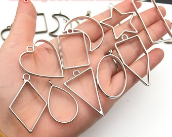 Shoe Figure Shiny Silver  Plated Charm,Necklace Findings,25*12mm,SM-202206-2