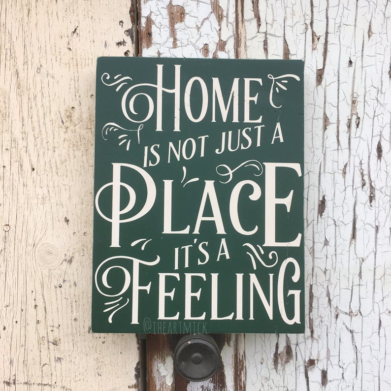 Home Is Not Just A Place It's A Feeling 12 x 16 inch image 0