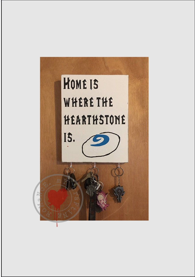 9 x 12 inch  World of Warcraft Home Is Where The Hearthstone image 0