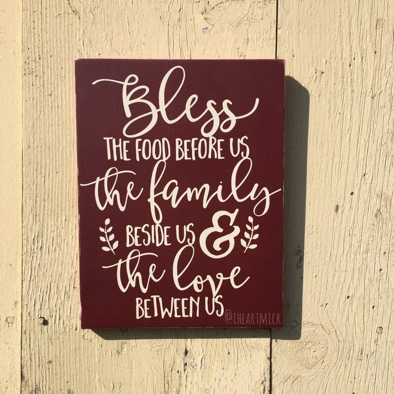 Bless The Food Before Us The Family Beside Us & The Love image 0