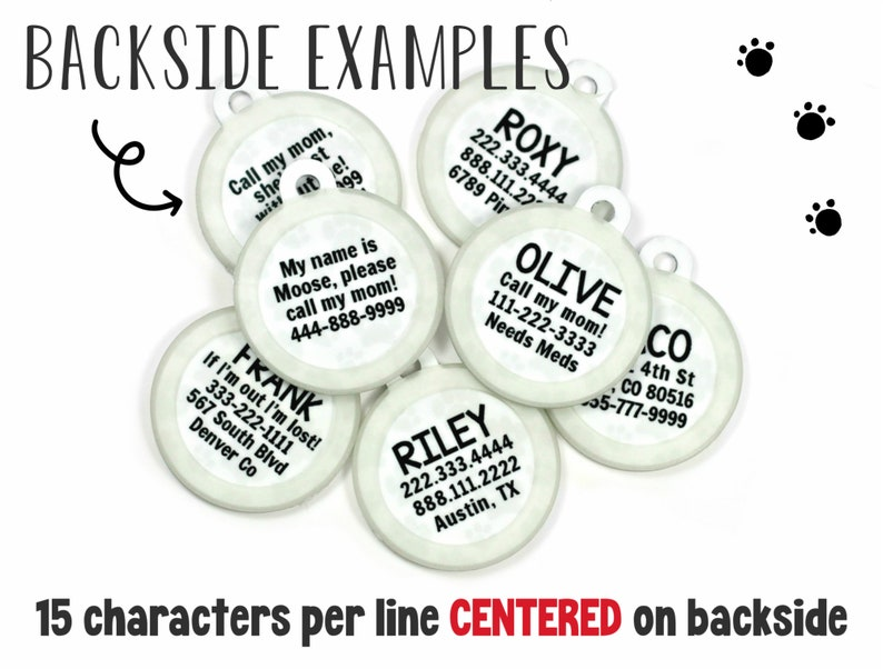 Head Bitch in Charge Girl Dog Collar Name Tag Personalized Double Sided Pet ID Tag