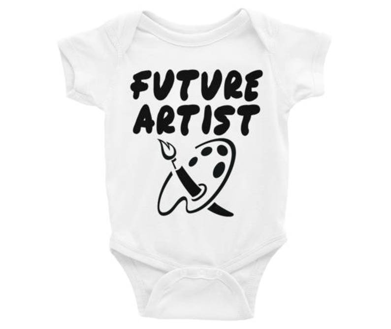 Perfect for the Budding Artist in Your Life BlackWhite Many Sizes and Cuts Available Future Artist BodysuitT-Shirt Christmas Gift!